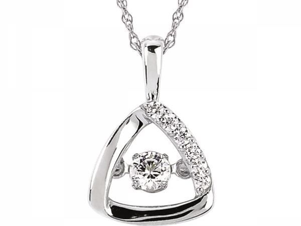 Pendants & Necklaces - Silver Shimmering Diamond Pendant